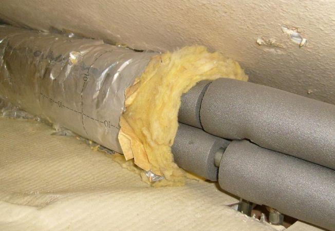 Теплоизоляция труб отопления на чердаке